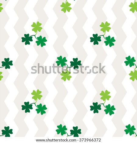 Clover leaf  on white background for happy St. Patrick's Day