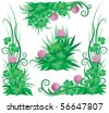 Clover ornament ready for St. Patrick's Day - stock vector