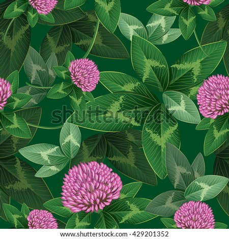 Clover seamless pattern, vector illustration , eps-10 - stock vector