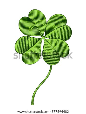 clover symbol of patrics day - stock vector