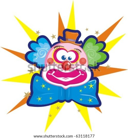 clown - stock vector