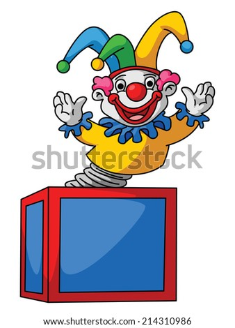 Clown Box - stock vector