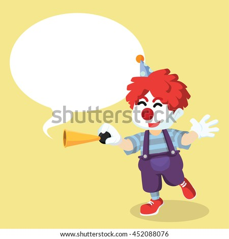 Clown honking with callout - stock vector