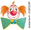 Clown portrait isolated on white background - stock vector