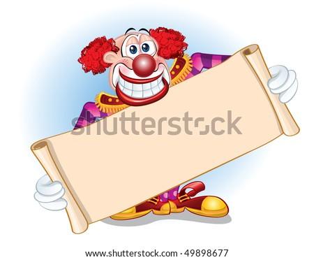 Clown Template - stock vector