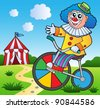 Clown theme picture 2 - vector illustration. - stock