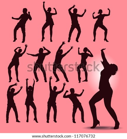 club life - stock vector