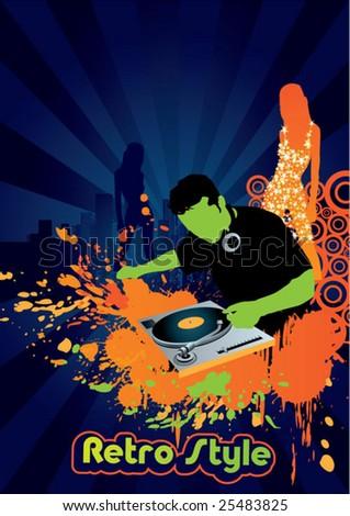 club music - stock vector