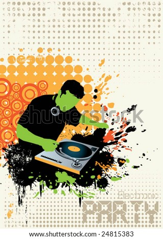 club music poster - stock vector