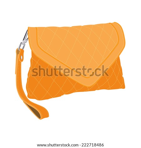 Clutch bag, clutch purse, clutch bag isolated - stock vector