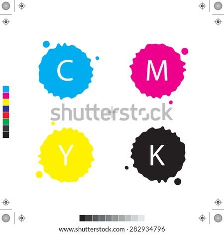 CMYK. Color model  - stock vector