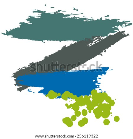 CMYK colors vector acrylic stains - stock vector