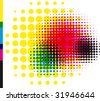 CMYK Dot Pattern - stock vector