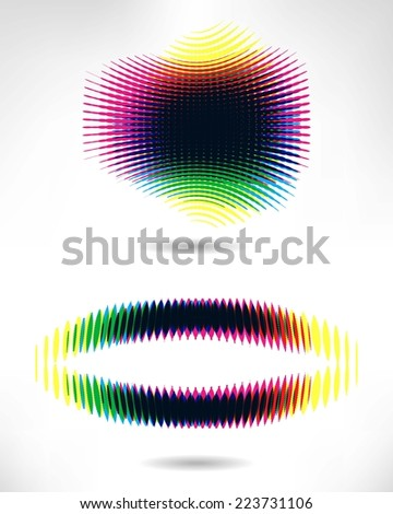 Cmyk Halftone banners. Vector illustration 10 eps - stock vector