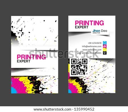 Cmyk printing business card stock vector 135990452 shutterstock cmyk printing business card colourmoves