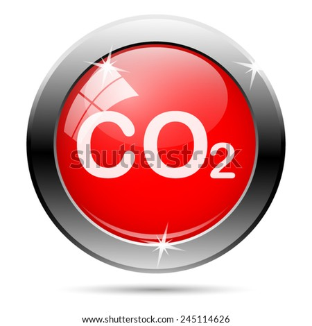 CO2 icon. Internet button on white background.  - stock vector