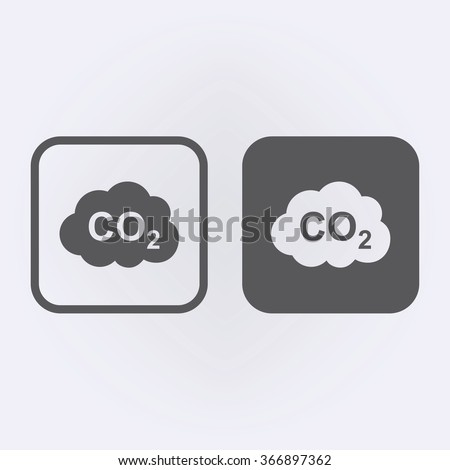 CO2 icon set . Vector illustration - stock vector