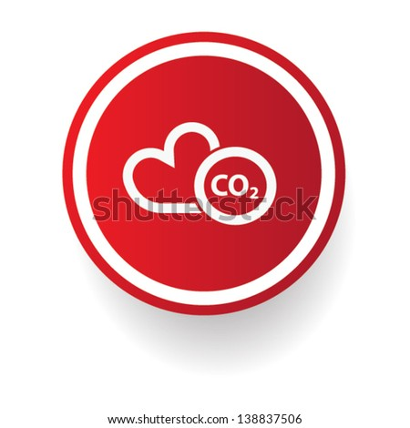 CO2 sign,vector - stock vector