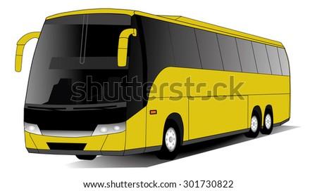 Coach bus - stock vector