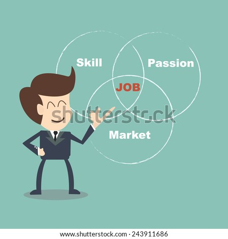 coach Job Selection - choose a job that suits you - stock vector