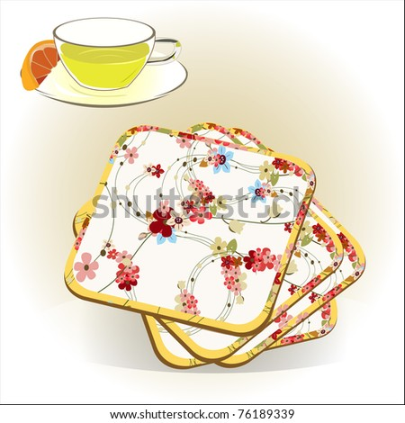 coasters vector illustration - stock vector