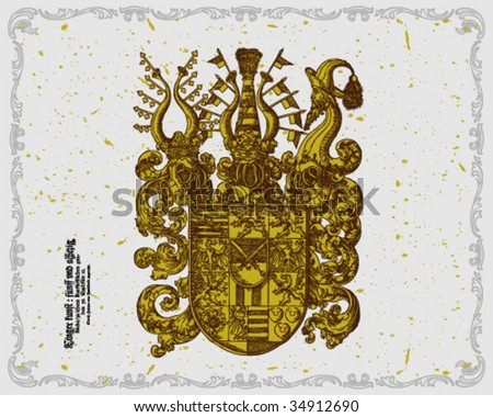 Coat of arms - stock vector