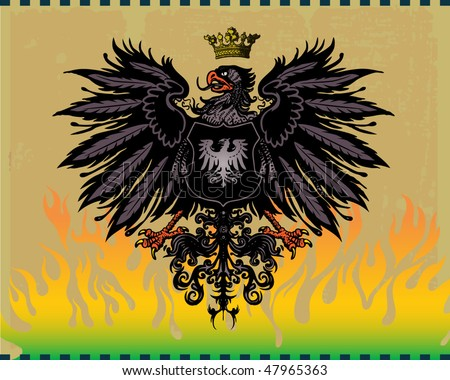 Coat of arms - eagle - stock vector