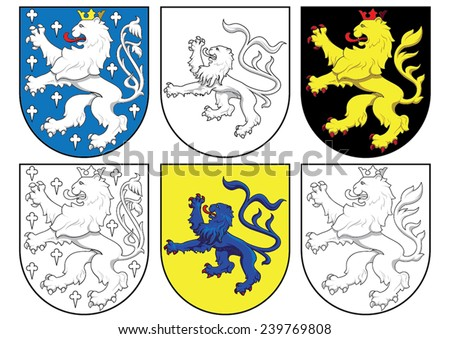 stock-vector-coat-of-arms-lions-23976980