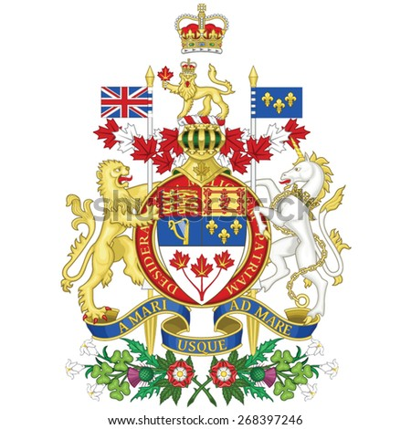 Coat of arms of Canada - stock vector