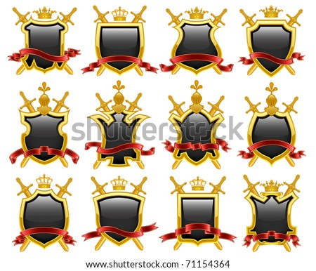 Coat of arms. Vector illustration. - stock vector