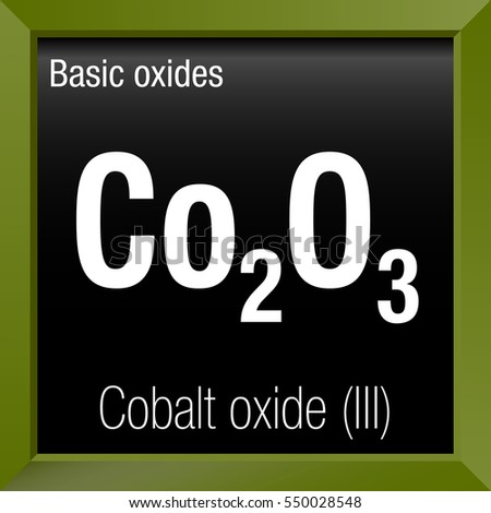 Cobalt Oxide Iii Chemical Formula Inside Stock Vector 550028548