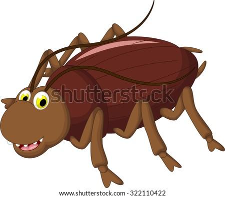 cockroach cartoon for you design - stock vector