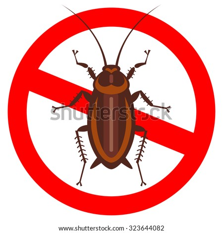 cockroach in pure style emblem - set of household pests in pure style - good for icons, packaging and design - stock vector