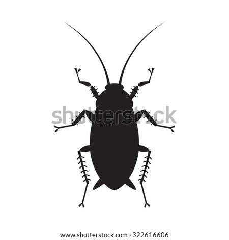 cockroach in pure style - set of household pests in pure style - good for icons, packaging and design - stock vector