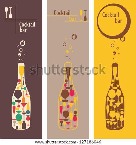cocktail bar menu - stock vector