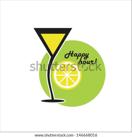 Cocktail Happy hour - stock vector