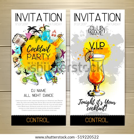 Cocktail party poster invitation design em vetor stock 519220522 cocktail party poster invitation design stopboris Gallery