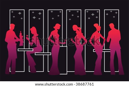 Cocktail party vector - stock vector