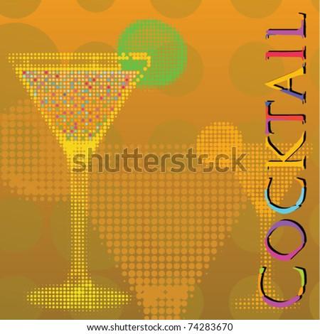 Cocktail vector - stock vector