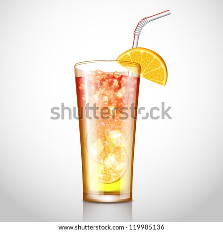 cocktail vector illustration - stock vector