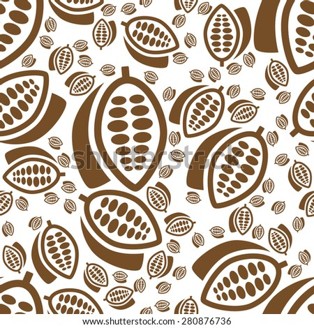 cocoa seamless pattern - stock vector
