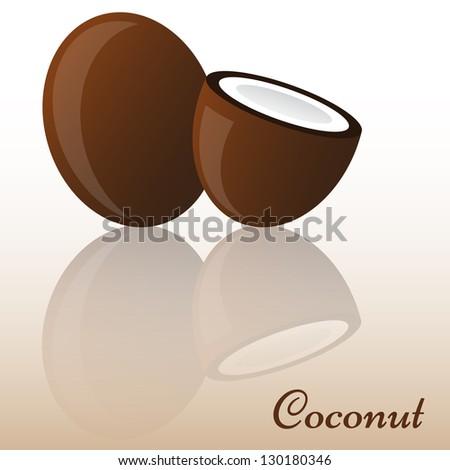 Coconut - stock vector