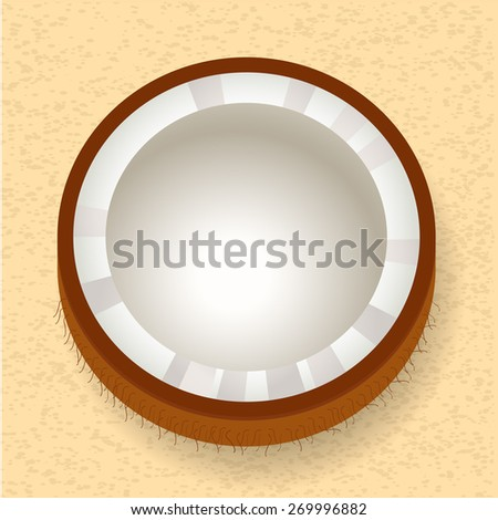Coconut Fruit Icon - stock vector