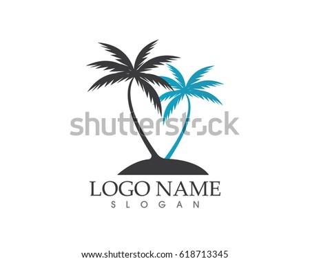coconut tree logos ��������� 618713345 shutterstock