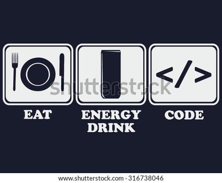 code - stock vector