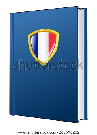 code of laws of France - stock vector