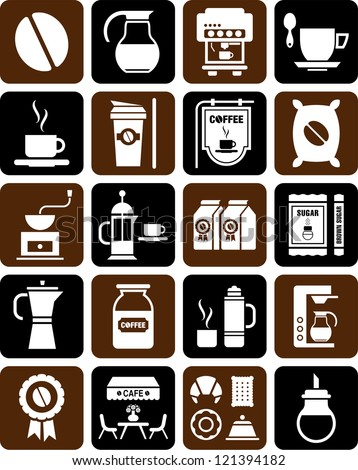 Cofee icons - stock vector