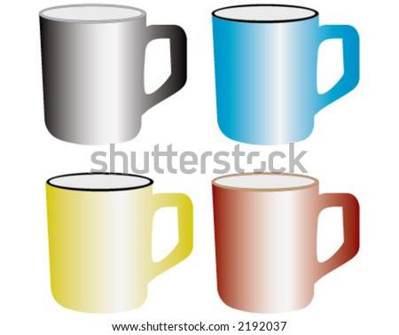 coffe cup, tea cup - stock vector