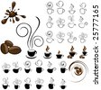 coffe icons - stock vector