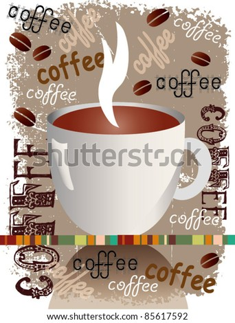 coffee abstract background - stock vector